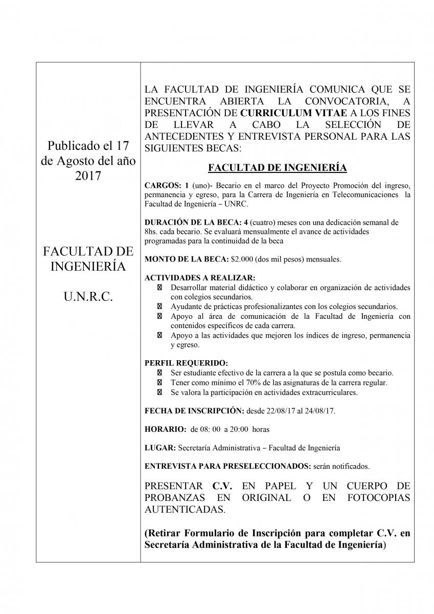Facultad de Ingeniería - UNRC